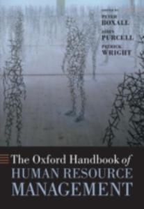 The Oxford Handbook Of Human Resource Management - 2849507913