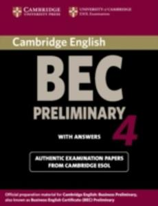 Cambridge Bec 4 Preliminary Student's Book With Answers - 2839997603