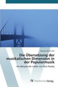 Die Übersetzung Der Musikalischen Dimension In Der Popularmusik - 2861339980