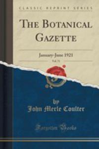 The Botanical Gazette, Vol. 71 - 2855190113