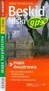 Beskid Niski Mapa Turystyczna Dwustronna - 2839276993