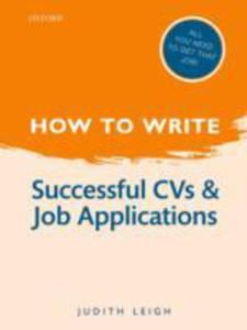 How To Write: Successful Cvs And Job Applications - 2839863961