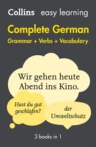 Easy Learning Complete German Grammar, Verbs And Vocabulary (3 Books In 1) - 2860199834