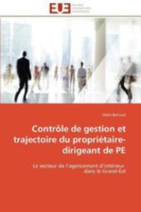 Controle De Gestion Et Trajectoire Du Proprietaire - Dirigeant De Pe - 2860288434