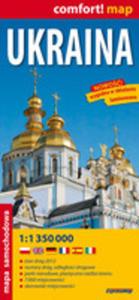 Ukraina 1:1 350 000 Laminowana Mapa Samochodowa - 2839285188
