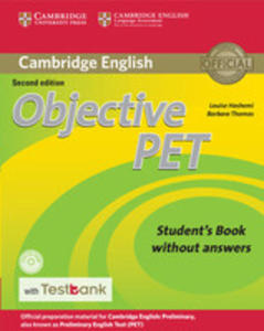Objective Pet Student's Book Without Answers With Cd-rom With Testbank - 2846053579
