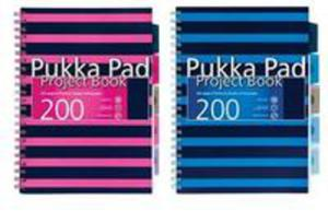 Project Book Navy A5/200 Kratka (3szt) Pukka - 2840296515