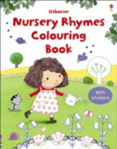 First Colouring Book With Stickers: Nursery Rhymes - 2849004233