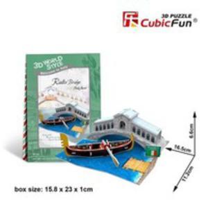 Puzzle 3d Domki Świata Włochy Rialto Bridge - 2846066215
