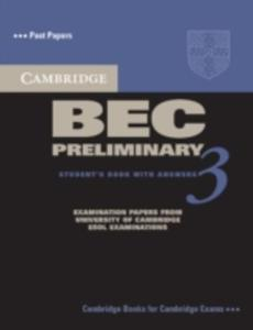 Cambridge Bec Preliminary 3 Student's Book With Answers - 2839997607