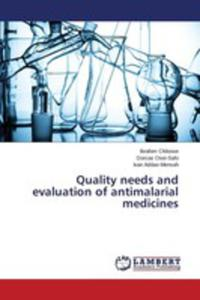 Quality Needs And Evaluation Of Antimalarial Medicines - 2860635797