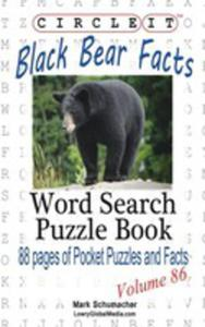 Circle It, Black Bear Facts, Word Search, Puzzle Book - 2860665340