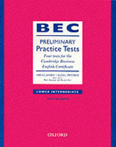 Bec Practice Tests Preliminary: Book With Answers - 2840022180