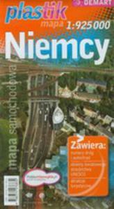 Niemcy Plastic Mapa Samochodowa 1:925 000 - 2839280331