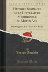Histoire Sommaire De La Littérature Méridionale Au Moyen Age - 2853008769