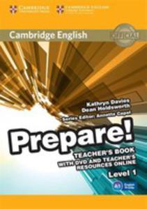Cambridge English Prepare! 1 Teacher's Book With Dvd And Teacher's Resources Online - 2840386839