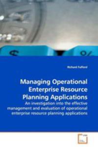 Managing Operational Enterprise Resource Planning Applications - 2857062811