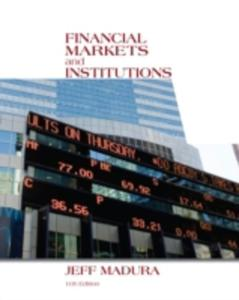 Financial Markets And Institutions - 2844438065