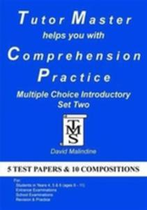 Tutor Master Helps You With Comprehension Practice - Multiple Choice Introductory Set Two - 2839958612