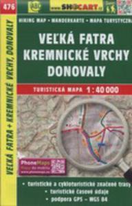 Velka Fatra Kremnicke Vrchy Mapa Turystyczna 1:40 000 - 2846040571