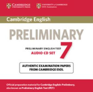 Cambridge English Preliminary Pet 7: : Audio Cds (2) - 2839762363