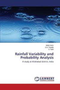 Rainfall Variability And Probability Analysis - 2860649857