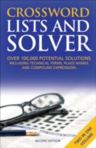 Crossword Lists & Crossword Solver - 2839941581