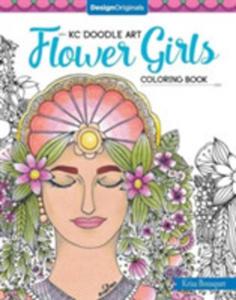 Kc Doodle Art Flower Girls Coloring Book - 2860487232
