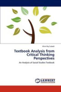 Textbook Analysis From Critical Thinking Perspectives - 2870784962