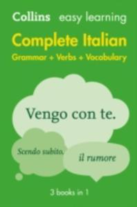 Easy Learning Complete Italian Grammar, Verbs And Vocabulary (3 Books In 1) - 2860199835