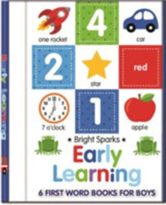 Early Learning - 6 First Word Books For Boys - 2848644906