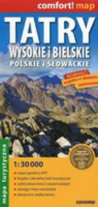 Tatry Wysokie I Bielskie Polskie I Słowackie Mapa Turystyczna 1:30 000 - 2850535780