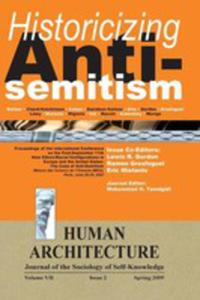 """Historicizing Anti-semitism (Proceedings Of The International Conference On """"The Post-september 11 New Ethnic/racial Configurations In Europe And The - 2852914523"""