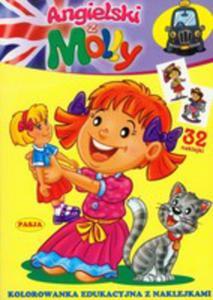 Angielski Z Molly. Kolorowanka Edukacyjna Z Naklejkami - 2839233596
