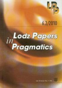 6.2/2010 Lodz Papers In Pragmatics - 2839297896