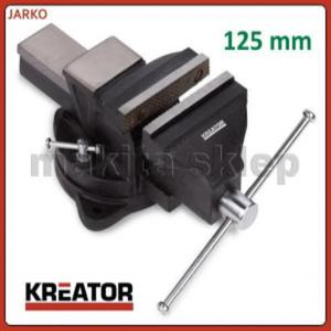 KRT554002 KREATOR mocne żeliwne imadło ślusarskie 125mm obrotowe 360 stopni - 2825392533