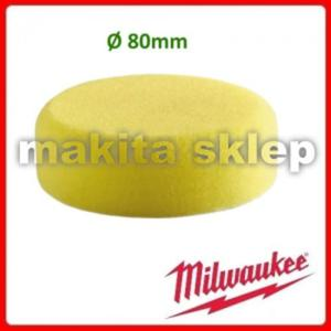 4932430489 Twarda gąbka polerska żółta fi 80mm MILWAUKEE na rzep (np. do M12BPS 4932-4304-89 dysk polerski gąbka) - 2825392978