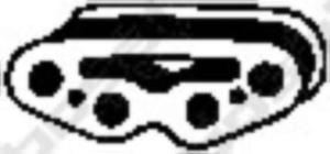 255-092 BSL 255-092 WIESZAK TLUMIKA FIAT BRAVO/A PUNTO GUMOWY BOSAL CZESCI MONTAZOWE BOSAL [861042] - 2174947117