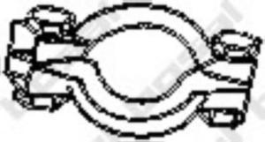 254-920 BSL 254-920 OBEJMA TLUMIKA PEUGEOT 406 1,6 1,8 OPASKA TLUMIKA BOSAL CZESCI MONTAZOWE BOSAL [897105] - 2174946919