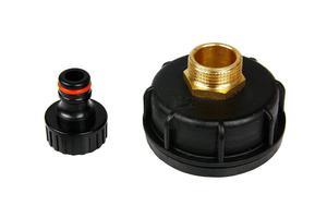 """Plastikowa nakrętka (korek, zakrętka) z adapterem GZ 3/4"""" do zbiorników typu mauser 1000l IBC z adapterem AGZ3/4 + przyłącze do węża ogrodowego GRATIS! - 2850784335"""
