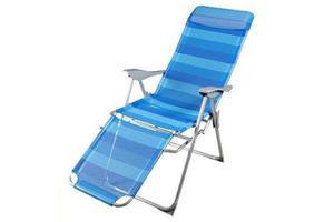 Leżak plażowy rozkładany (5 funkcji) z podnóżkiem MADERA JLC407 - 2875751601