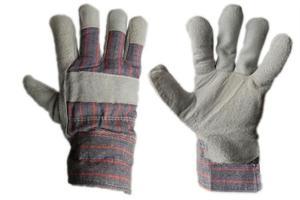 Zimowe rękawice robocze skórzane z dwoiny bydlęcej, ocieplane kożuszkiem RDBOA - 1para - 2833017158