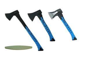 Zestaw 3 siekier do rozłupywania z trzonkiem z włókna szklanego JOBIextra XT066, XT040, XT042 + osełka GRATIS - 2869301039