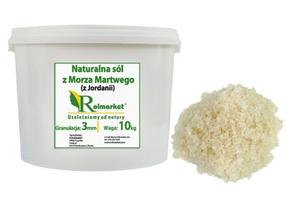 Naturalna, nieoczyszczona sól z Morza Martwego (z Jordanii) 3mm, gruboziarnista 10 kg wiaderko - 3mm \ 10kg - 2833019419