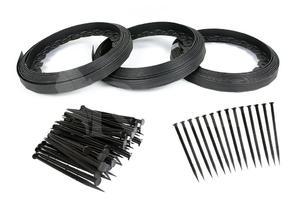 Obrzeże trawnikowe ogrodowe czarne 40mm x 30m Elasteo + 90 kotew - 30m + 90 kotew - 2876579934