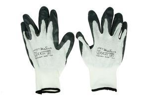 Rękawice robocze nitrylowe 8 szare - 2844414873