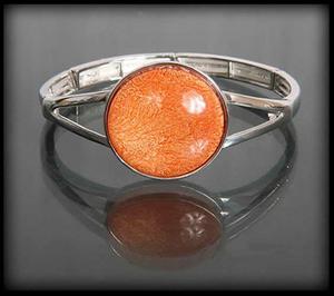 Bransoletka z oczkiem w kolorze stonowanej pomarańczy - 2843487279