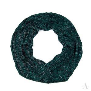 Melanżowy komin szalik damski w odcieniu zieleni i czerni - czarny    zielony    popielaty    kolorowy - 2857923022