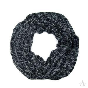 Czarno-popielaty melanżowy komin szalik damski - czarny    popielaty - 2857923023