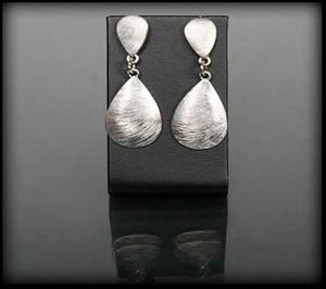 Wiszące srebrne kolczyki - srebrny - 2843487259
